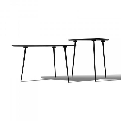 Столики из массива акации в скандинавском стиле, платина