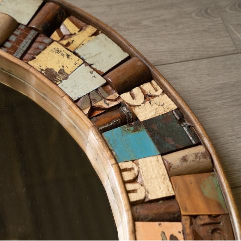 Круглое зеркало из массива, САРИКА 3