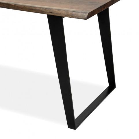 Стол лофт из массива обеденный,  ДЖИВАН sigar black