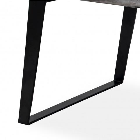 Стол из массива большой, ДЖИВАН platinum black, 2,5 метра