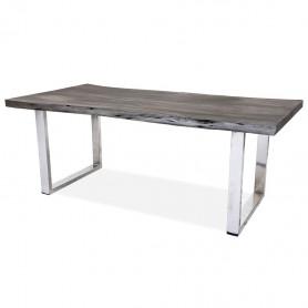 Дизайнерский кухонный стол ДЖИВАН platinum silver