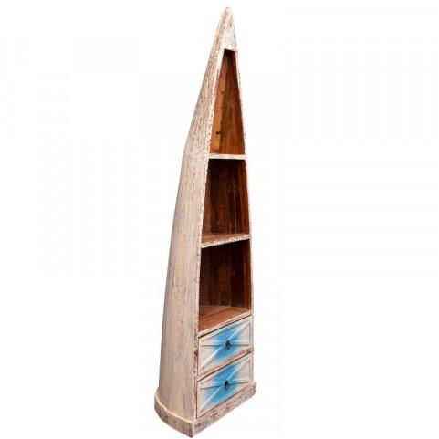 САГАР, стеллаж лофт, 2 синих ящика